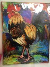 Rooster giclee print by Maria Reyes-Jones