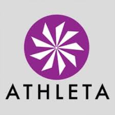 Athleta goodie bag: includes $50 gift card, a water bottle, head band, and KIND bars in a tote bag