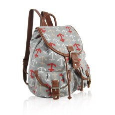 Anchor-Print-Retro-Rucksack-Grey