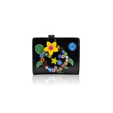 Flower-Turtle-Small-Purse---Black