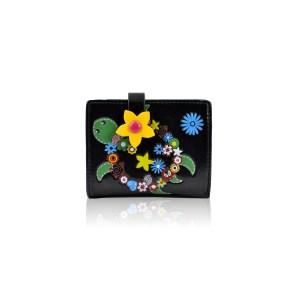 Flower-Turtle-Small-Purse---Black
