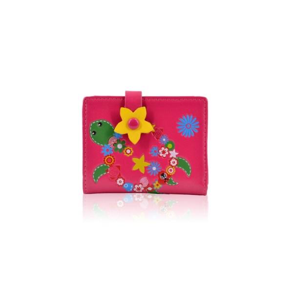 Flower turtle purse Red