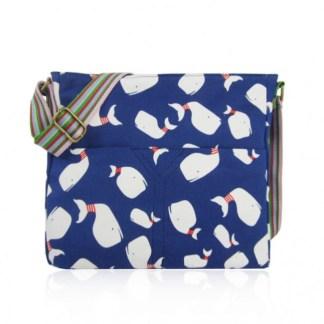 Whale Print Crossbody Bag