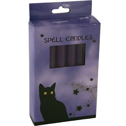 pack of 12 purple spell candles