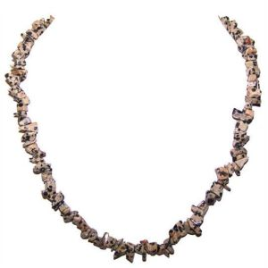 Dalmatian Jasper Chip Necklace