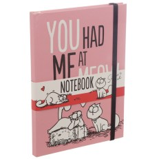 You Had Me At Meow Simon's Cat A5 Hardback Notebook