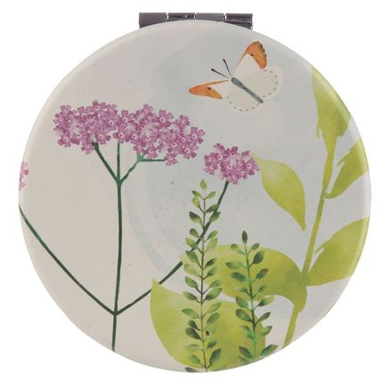 New Collectable Botanical Butterfly Design Compact Mirror