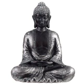 Decorative Black & Silver Thai Buddha - Peace