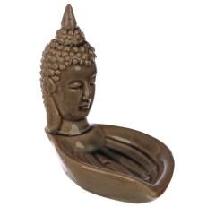 Eden Incense Burner - Thai Buddha Head and Leaf
