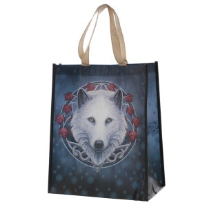 Guardian of the Fall Wolf Reusable Shopping Bag
