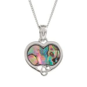 Tide Jewellery inlaid Paua shell Celtic heart pendant