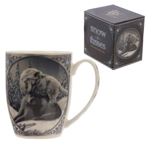 Snow Kisses Wolf Design Lisa Parker Porcelain Mug