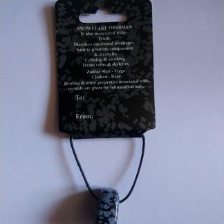 Snowflake Obsidian Pendant Necklace