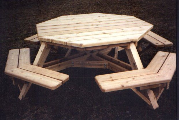 Octoagon Picnic Table Plans