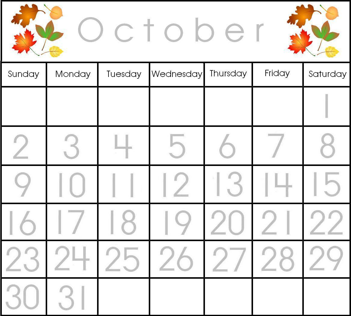 Preschool Printable Calendar Items