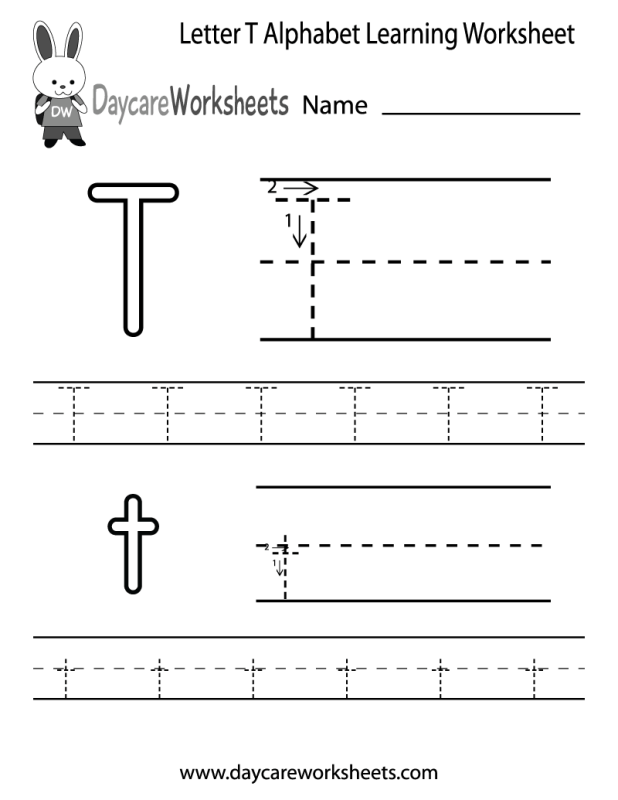 Letter T Worksheets For Kindergarten Howtoviews
