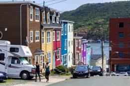 Pretty St. John's. Love these coloured row houses