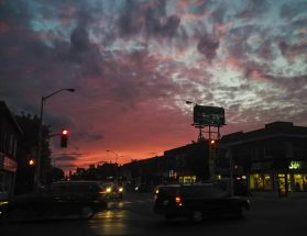 Coxwell & Danforth Sunset - sometimes you just have to get out of the car and snap