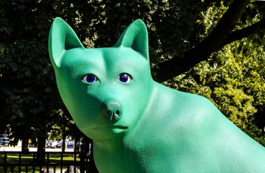 Weird & Wonderful dog statue at the off leash park, Allan Gardens