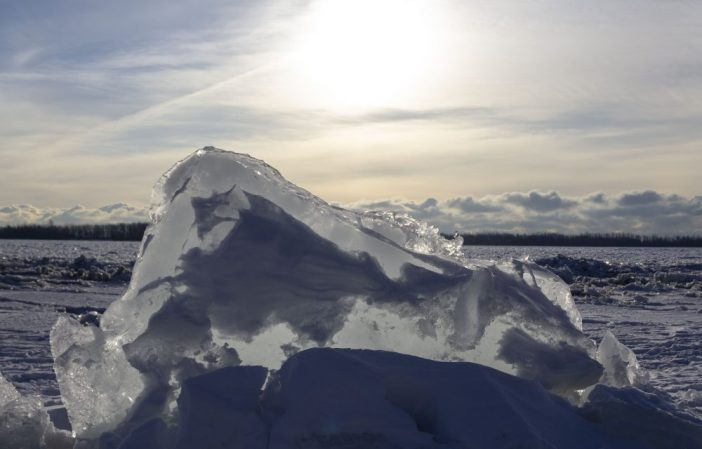 Ice mountains at Cherry Beach