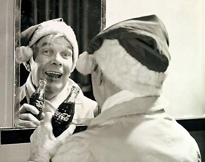 Haddon Sundblom modeling Santa