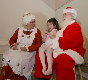 Laughing with Santa