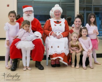 Dance Class photo with Santa