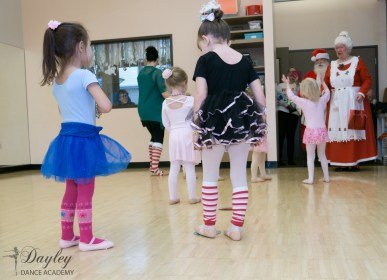 Santa came to dance class