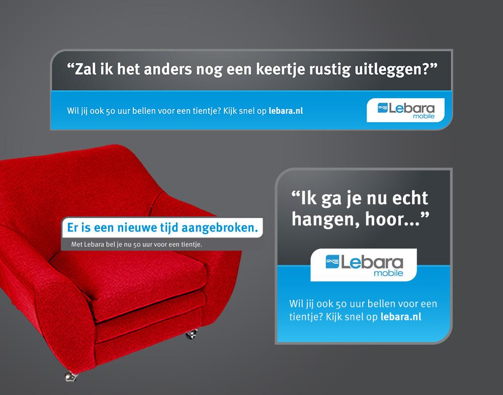 Lebara mobile online banner concept