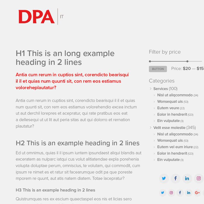 DPA ux design typografie