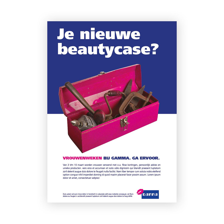 Vrouwenweken bij Gamma abri advertentie nieuwe beautycase