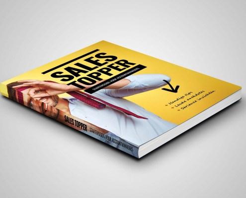 Boekcover ontwerp 'Sales Topper' hard cover