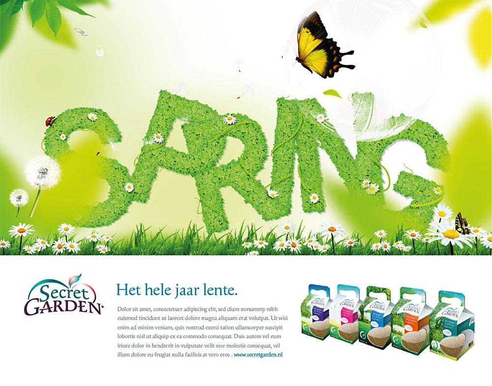 Concept voor reclame campagne in dagbladen en exclusieve tuin-magazines - 2019 © Daylinq