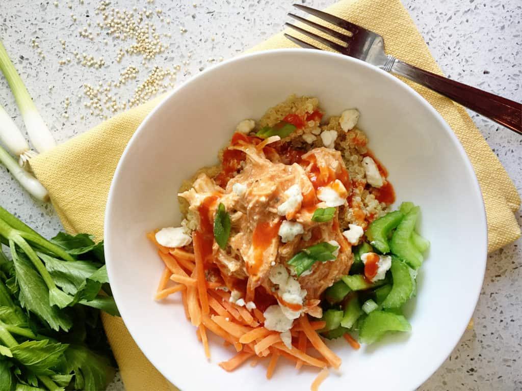 Buffalo Chicken Quinoa Bowls Spice Up Dinner