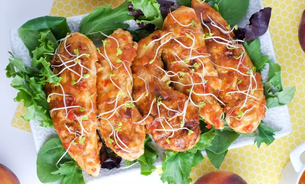 Sweet and Peach BBQ Chicken Tenders