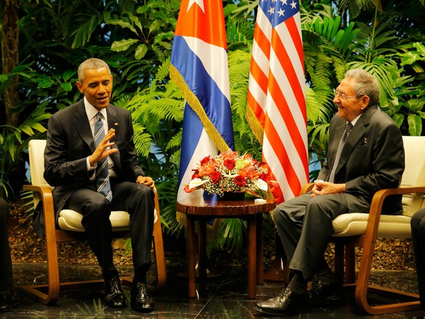 Raúl Castro recebe Obama para reunião histórica em Cuba