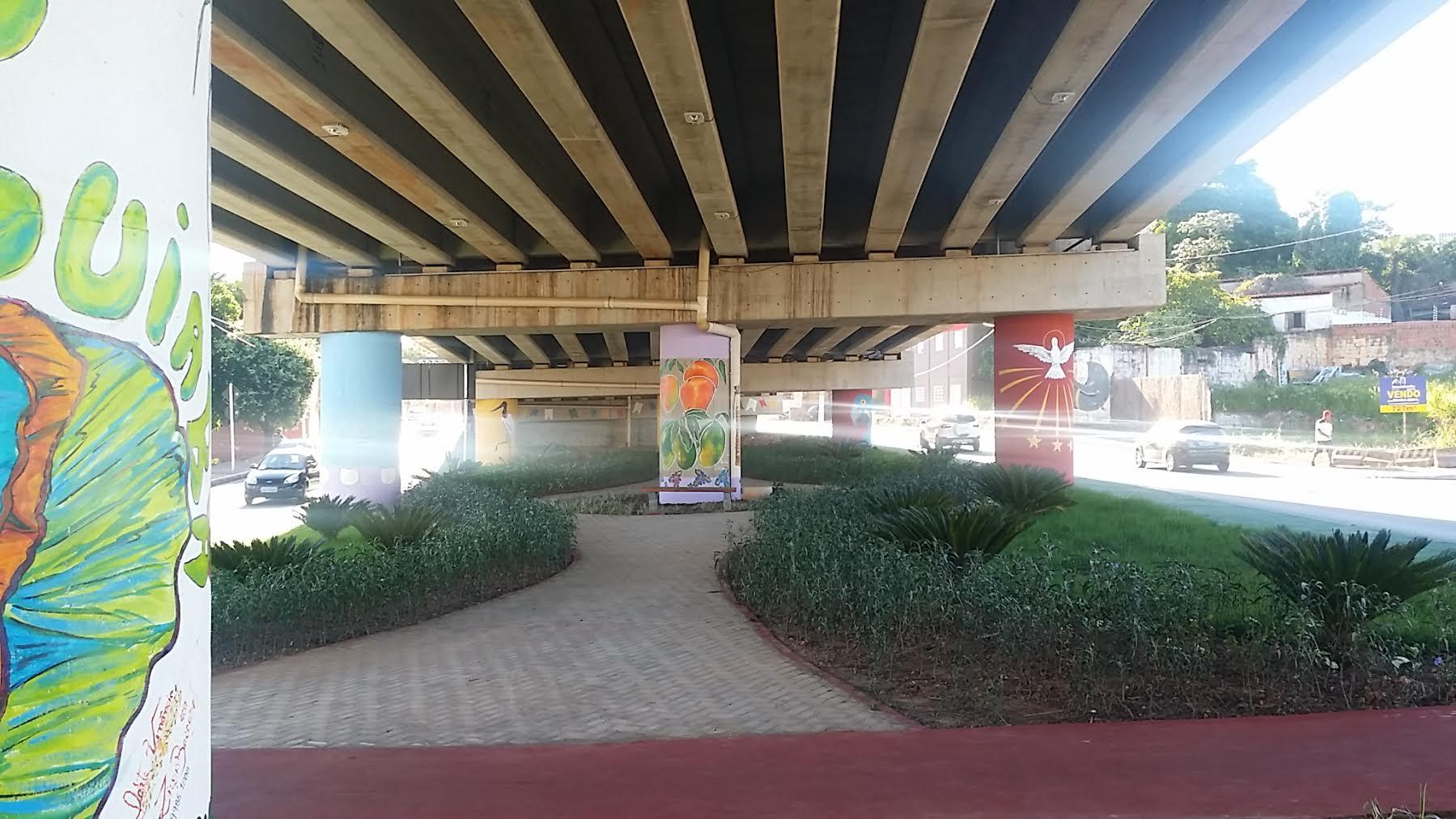 Cuiabá: Ilha da fantasia sob o viaduto