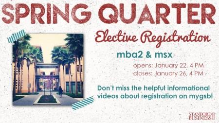 Spring Quarter MBA2