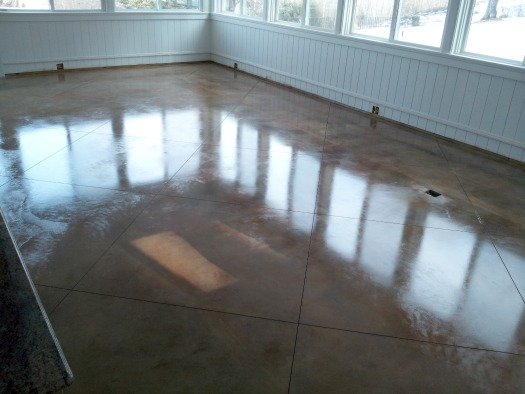 Stained Concrete Floor Wax