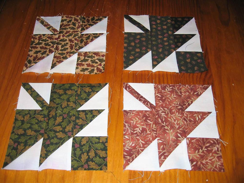 Falling leaves quilt blocks
