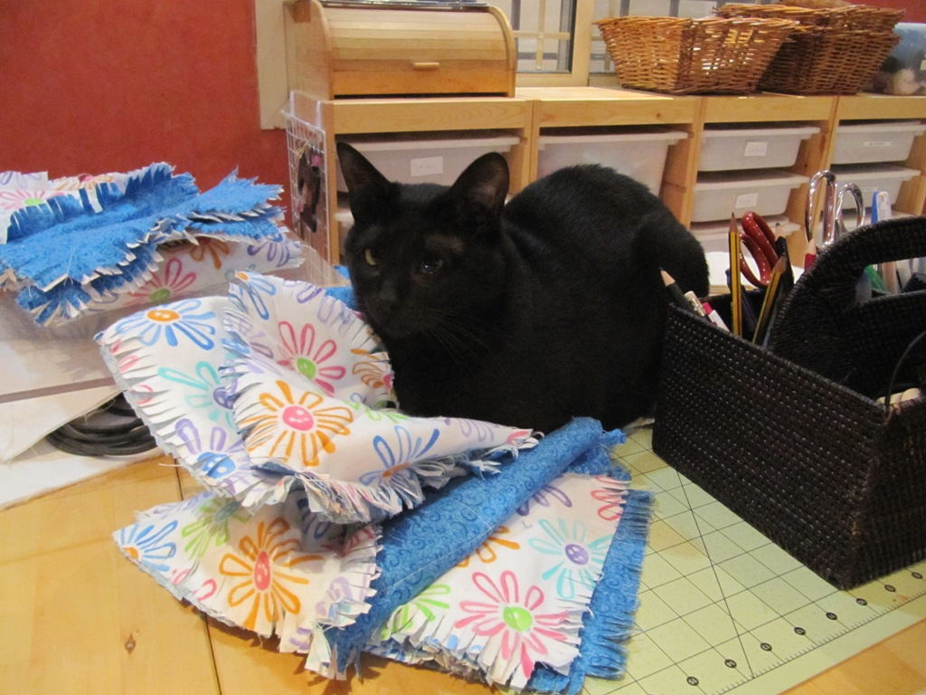 Flannel Rag Quilt using the Go! Cutter
