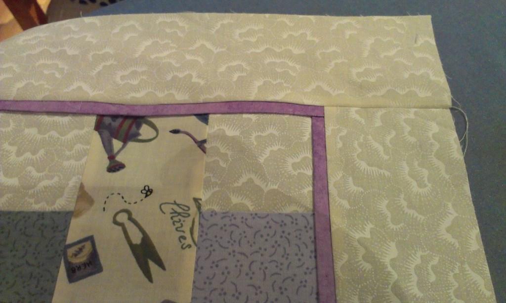 Purple Gardening Quilt