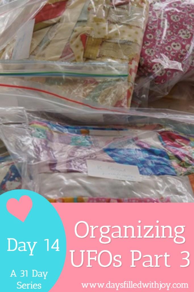 organizing ufos part 3 free printables