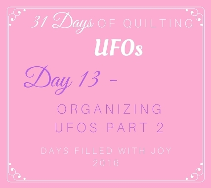 Day 13 – Organizing UFOs Part 2