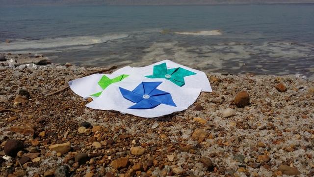 Pinwheels at the Dead Sea