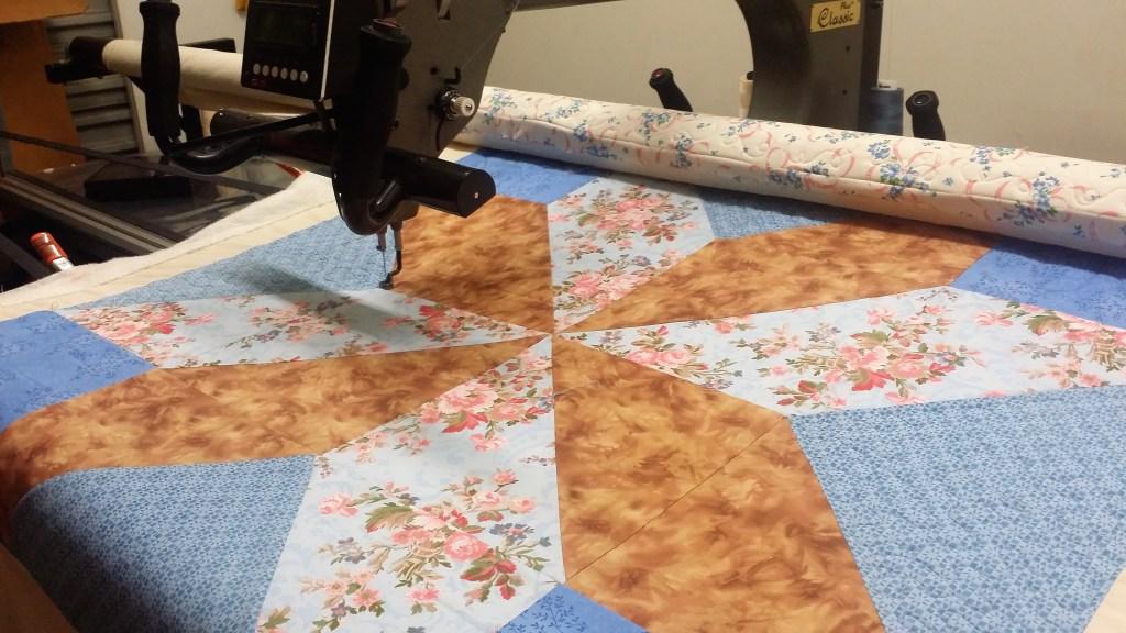 One block star quilt