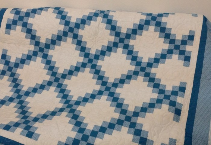 Chains of Blue is Quilted!