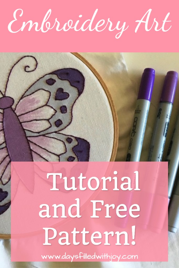 embroidery art tutorial free pattern