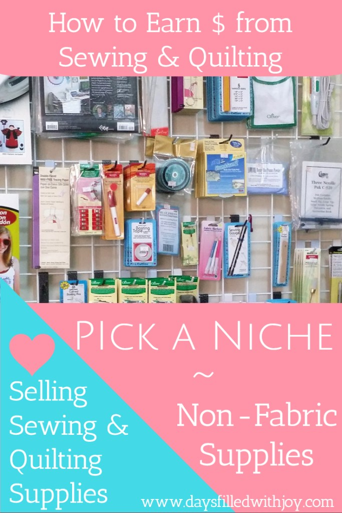 selling non-fabric supplies