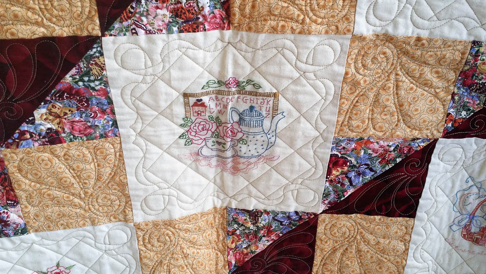 beautiful stitchery and quilting